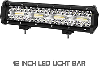 LED Light Bar, Rigidhorse 3 Row 12 inch 120W 15000LM Flood Spot Beam Combo Fog Lights Driving Lights Work Light, For Jeep Pickup SUV Trucks Boat With Slideable Mounting Bracket, 2 Years Warranty