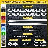 Adesivi Bici COLNAGO_Kit 7_ Kit Adesivi Stickers 16 Pezzi -Scegli SUBITO Colore- Bike Cycle pegatina cod.0858 (090 Argento)