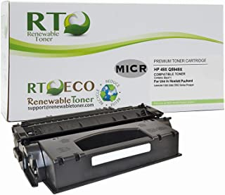 Renewable Toner Compatible MICR Toner Cartridge High Yield Replacement for HP 49X HP Q5949X for Laserjet 1320 3390 3392