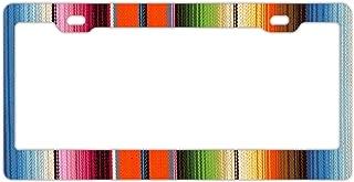 DZGlobal Rainbow Light Shine Lines Alumina Metal License Plate Frame 6