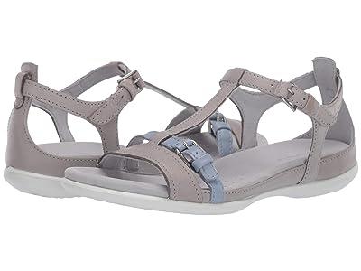 ECCO Summer Buckle Sandal (Wild Dove/Dusty Blue Cow Nubuck/Cow Leather) Women