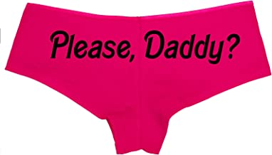 Knaughty Knickers Please Daddy Yes Daddy DDLG Pink Boyshort Panties BDSM Sub