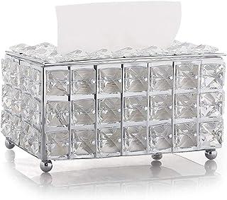 Gospodarstwo domowe Pudełko Wipes, Crystal Tissue Box Living Room Home Desktop Serwetki Pompowanie Papieru Papierowe Papie...