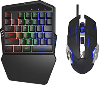 Delta essentials Mobile Gaming Keyboard and Mouse for iPhone/iPad iOS/Android OS Compatible with Call of Duty Mobile PUBG Mobile Games