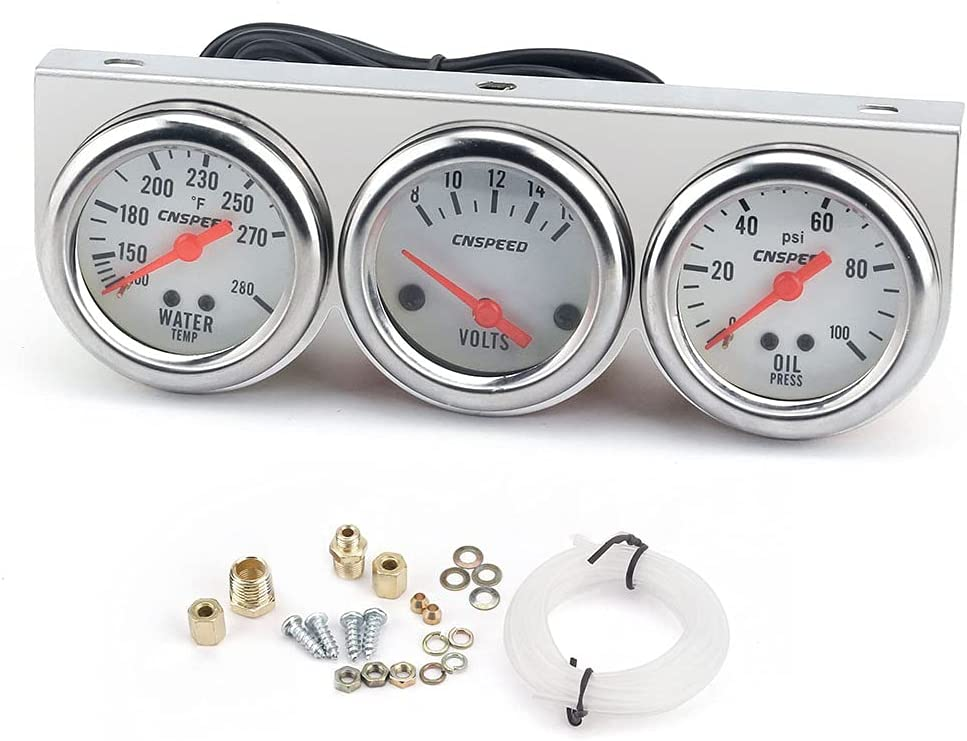 Shkalacar Discount is also underway Triple Gauge Set Auto Meter 52mm Universal Car Oklahoma City Mall 2'' Ch