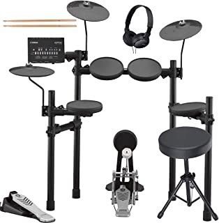 Yamaha DTX432K Electronic Drum Set with Adjustable Height Drum Throne, On-Ear Stereo Headphones, and a Pair of Drumsticks