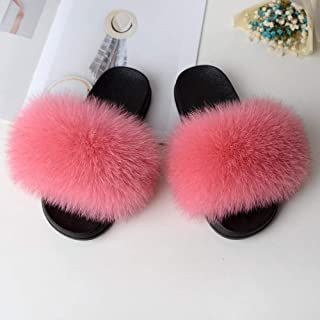 ypyrhh House Sandals for Indoor & Outdoor,Slippers outside summer, a word plush sand-Pink_44-45,Mens Flip Flops Summer