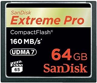Sandisk 64GB Extreme Pro CF - Memoria Compact Flash de 64 GB (Alcance de Temperatura operativa: -25-85 °c CompactFlash (CF) 160 MB/s) Negro y Dorado