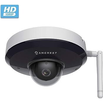 Amcrest ProHD 1080P PTZ WiFi Camera, 2MP Outdoor Vandal Dome IP Camera (3X Optical Zoom) IK08 Vandal-Proof, IP66 Weatherproof, Dual Band 5ghz/2.4ghz, Pan/Tilt (IP2M-866W) (White)