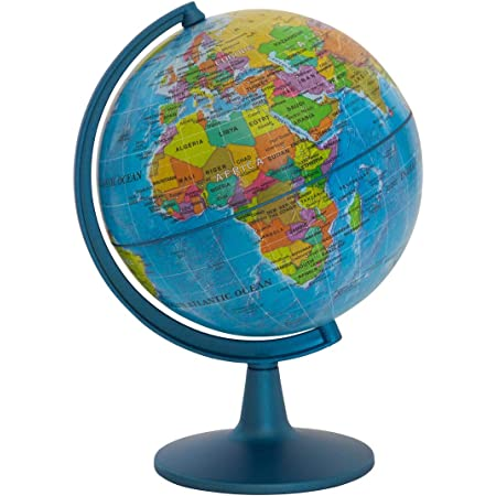 Juvale Small Spinning World Globe With Stand For Office Desktop Classroom 4 Inches Home Kitchen