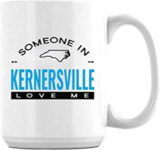 Long Distance Relationship Mug Someone in Kernersville North Carolina NC Love Me Fathers Day Gift For Dad Son The Love Between Dad & Son Happy Fathers Day Coffee Mug 15oz