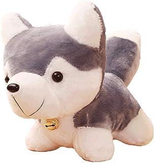 Zzlush Plush Doll Figurine Toy Pet Pillow Animal, Erha Lovely Husky Plush Toy Dog Figurine Puppet Small Dog Ragdoll Doll G...
