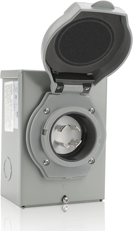 30 AMP Generator Power Inlet 3R Box Fit Ranking TOP5 f Elegant NEMA