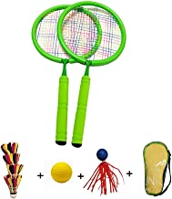 Forevive Children's Badminton Racket Badminton Set Double Racket, Lightweight and Sturdy, Suitable for Beginners and Parent-Child Indoor/Outdoor Sports Games