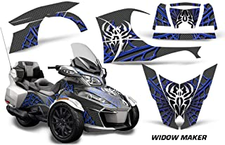12.24 tall x 9.3 wide Fits Can Am Can-AM Spyder spider F3 extended Flaming Rose Orange Motorcycle Tank Pad Protector Guard Decal 3D Gel