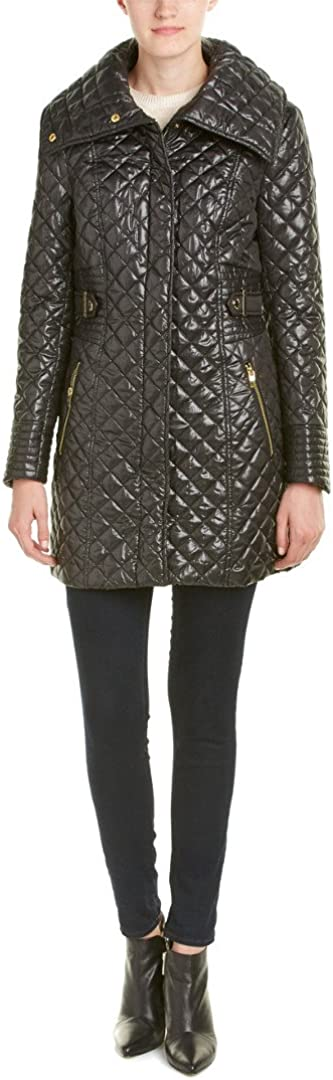 Via Spiga Women's Lightweight Quilted Jacket with Side Tabs