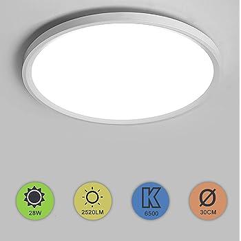 Yafido LED Plafoniera 24W Ultra magro UFO Pannello LED Rotondo Bianco Freddo 6500K 2160LM Lampada da Soffitto per Soggiorno Camera da letto Bagno Cucina Corridoio e Balcone /Ø23cm