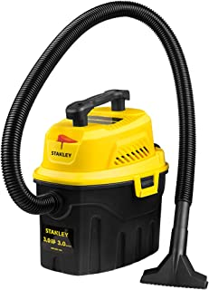 Stanley 3 Gallon Wet Dry Vacuum, 3 Peak HP Poly 2 in 1 Shop Vac with Powerful Suction, Multifunctional Shop Vacuum Car Vac...