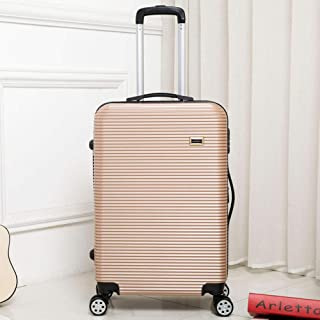 Trolley case Male and Female Universal Wheel Board case Travel Hard Shell Suitcase Golden