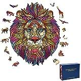 Coriver Rompecabezas de Animales de Madera de 310 Piezas, Rompecabezas únicos con Forma de Mariposa de león, Coloridos, 3D, Animal Intelectual, Juego de Rompecabezas para el desafío del Cerebro