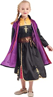 Girls Princess Costume Fancy Dress up Purple Deluxe Outfit for Kids Gift Party