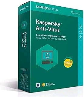 Kaspersky Antivirus 2018   1 Poste   1 An   PC   Téléchargement