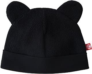Zutano Cozie Baby Fleece Hat, Unisex, for Newborns, Infants, Babies, and Toddlers, Black, 12M-18M