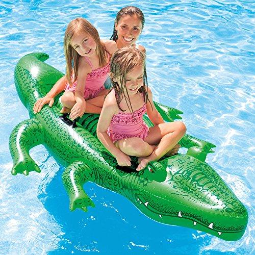 Intex 58562NP - Cocodrilo hinchable acuático & 4 asas 203 x 114 cm