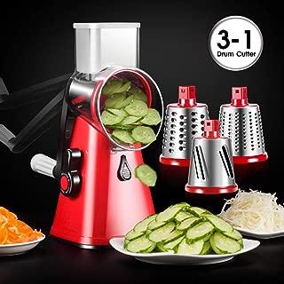 Shredder Vegetable Slicer 3-Blades Speedy Rotary Drum Grater Slicer for Vegetable Fruit Cutter Cheese Shredder