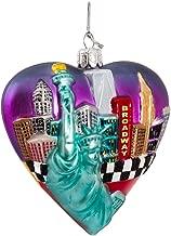 Kurt Adler Glass New York Cityscape Ornament, 3.75-Inch