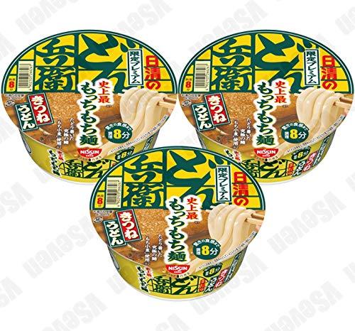 日清食品 日清のどん兵衛 限定プレミアムきつねうどん 史上最もっちもち麺 82gカップ 3食