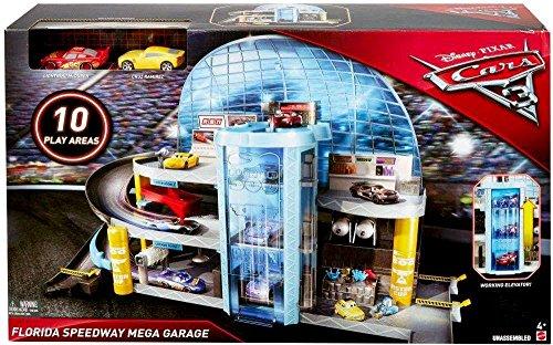 Mattel Disney/Pixar Cars 3 Florida Speedway Mega Garage, PLAYSET Kids Boys Toy McQueen