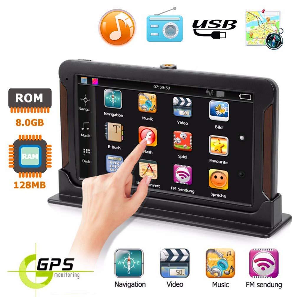 XMZWD Sistema Android 7 Pulgadas HD Coche Navegación GPS, con FM 128M + 8GB Pantalla Capacitiva del Vehículo del Coche/Bluetooth/Multi-Lingual/Control del Volante, Navegador GPS Coche: Amazon.es: Hogar