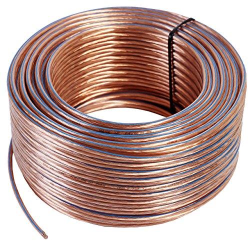 Misterhifi Cable para altavoces de 100 m 2 x 2,5 mm², cordón:...