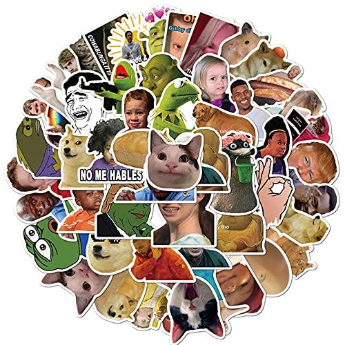 10/30/50 pçs engraçado meme expressão impermeável pvc papelaria adesivos diy bagagem portátil graffiti skate crianças adesivo brinquedo