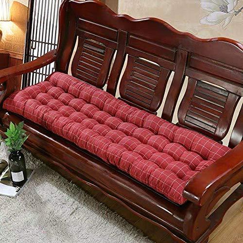 DUCHEN - Cuscino spesso per panca da giardino, per esterni e patio, 2-3 posti, morbido tappetino per panchina, materasso di ricambio antiscivolo