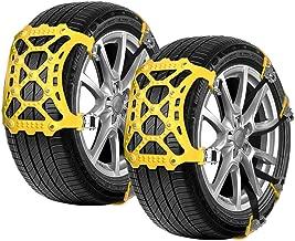 T3 Osaloe Cadena de Nieve Universales Cadenas Antideslizantes de 8 Piezas para Autom/óviles//Camiones//SUV con Ancho de Neum/áticos Entre 165 mm y 265 mm Amarillo