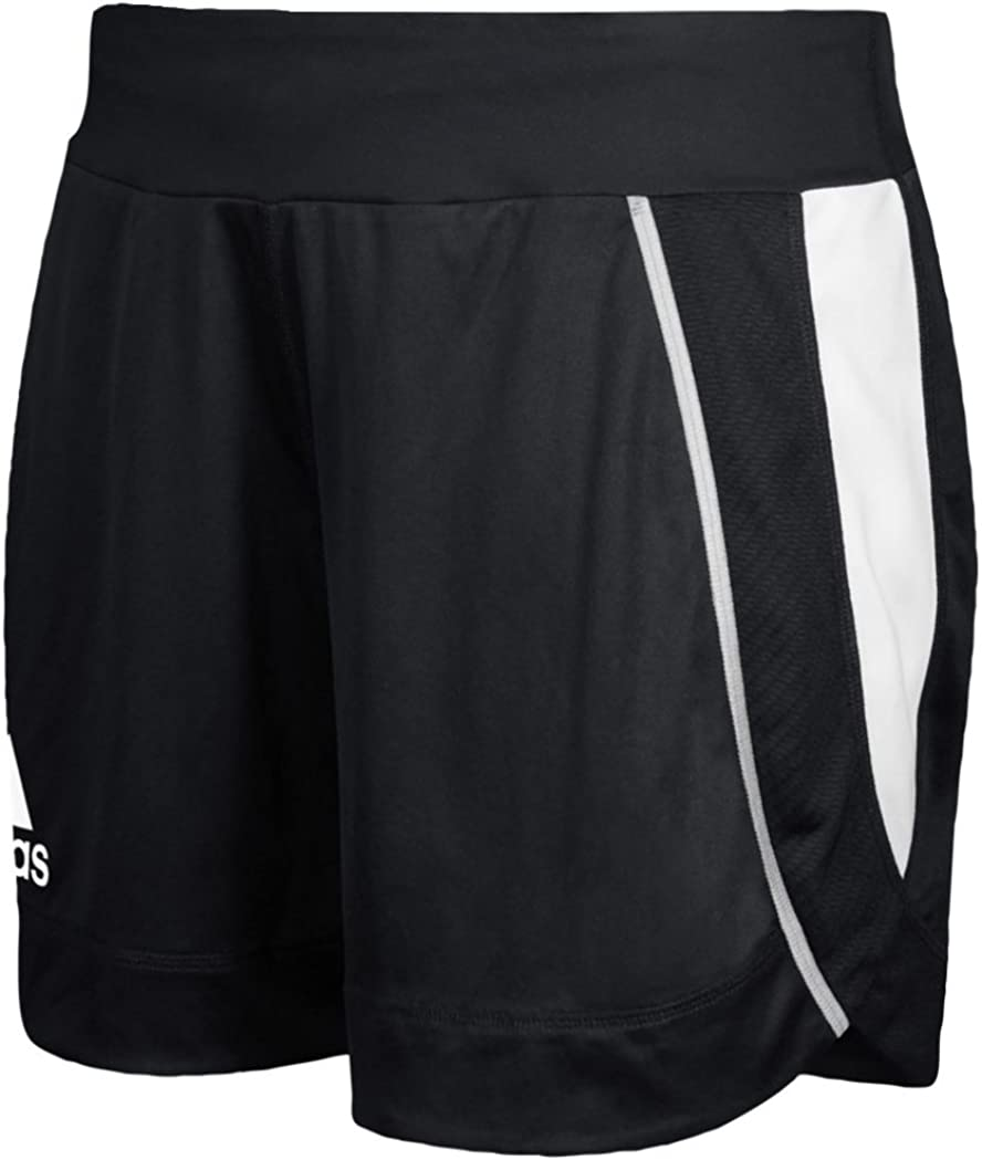 Adidas Womens Utility 5 popular Max 81% OFF Short Pockets Black-White Without