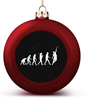 Christmas Ball Ornaments Evolution Ultimate Frisbee Funny Hanging Ball Decorative for Christmas Trees,Holiday Party