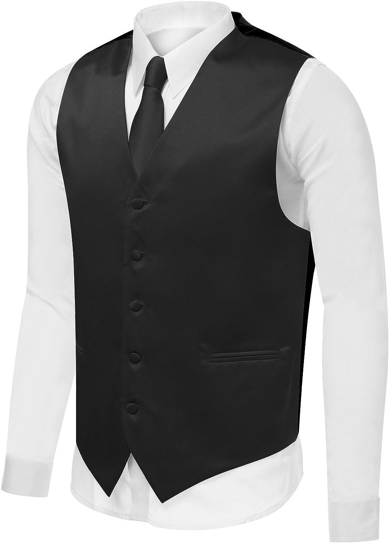 Azzurro Men's Dress Vest Set Neck Suit Tie Attention brand or Tuxedo Hanky Ranking TOP10 for