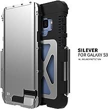R-just For Samsung Galaxy S9 Case,Luxury Doom Metal Armor Life Dirt Shockproof Aluminum Cover Case for Samsung Galaxy S9 Armor King Iron Man Steel Flip Case