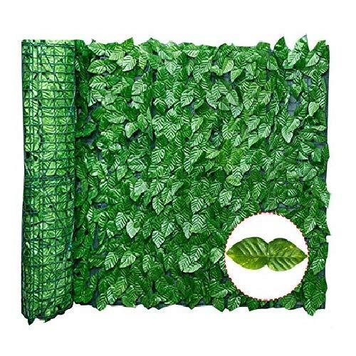 Wopohy Sichtschutz für künstliche Blätter, UV-Schutz, Sichtschutz, Hecke für Landschaftsbau, Garten, Zaun, Balkon (Wassermelonenblatt), 0,5 x 3 m