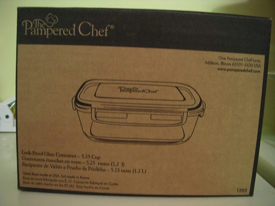 Pampered Chef 5 1 4 Cup Rectangle Leakproof Glass Container With Lid