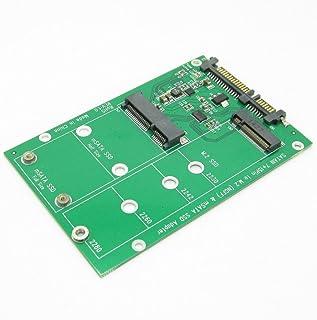 JIUWU 2 in 1 Combine Mini PCI-E M.2 NGFF & mSATA SSD To SATA 3.0 III Adapter PCB Card
