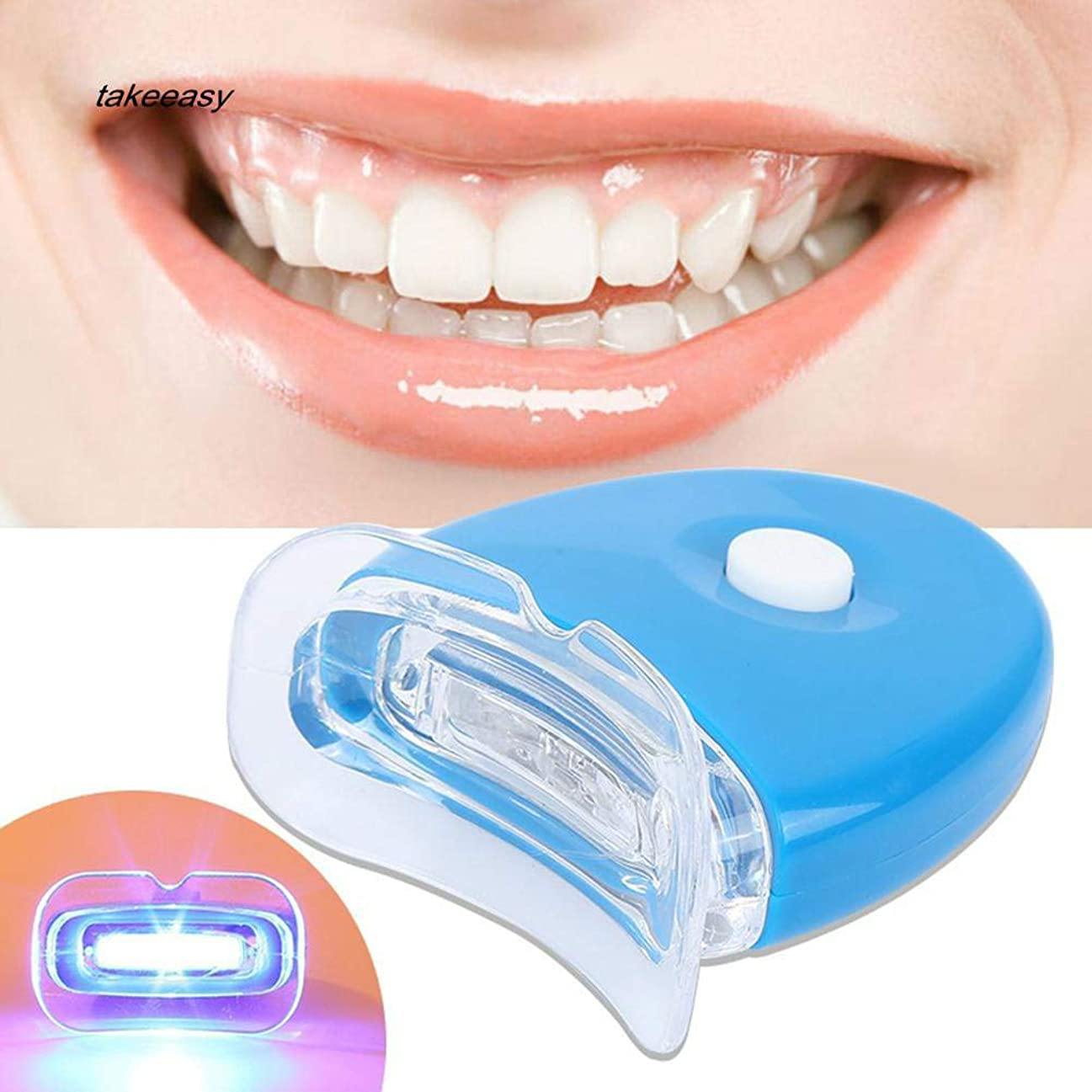 永遠にセクタ罰する歯ホワイトニング器 歯美白器 美歯器 ホワイトニング ホワイトナー ケア 歯の消しゴム 歯科機器 口腔ゲルキット ライト付き 歯を白くする