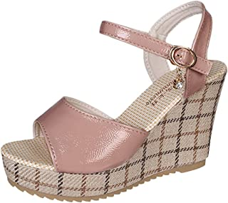 Sale! Women Fashion Wedge Sandals, Ladies Thick-Soled Sponge Cake Ankle-Strap High-Heeled Peep Toe Roman Shoes