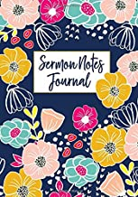 Sermon Notes Journal: Floral Religious Weekly Church Notes
