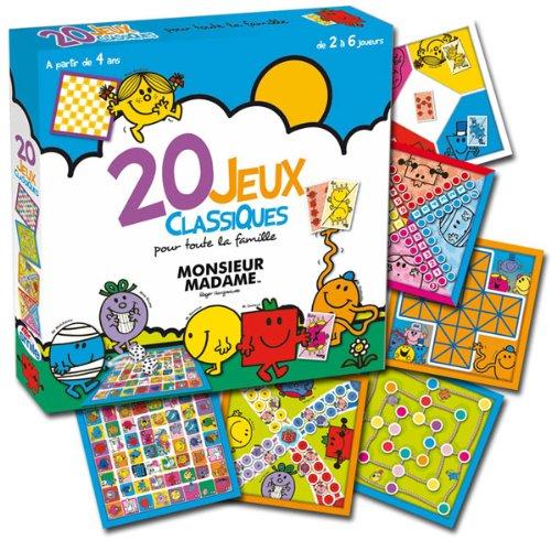 Abysmile - SMIJDP003 - Jeu de Plateau - Monsieur Madame - 20 Jeux Classiques
