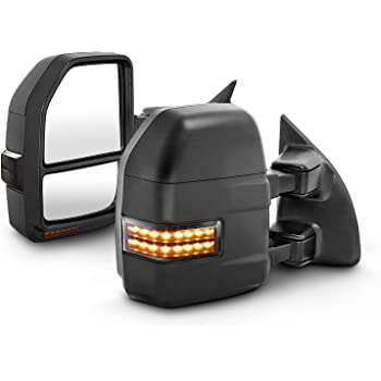 AOKAILI Power Heated Towing Mirrors For 1999-07 F250-F550 SuperDuty 2001-05 Excursion