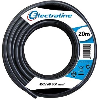 3 x 0,75 mm/² 50 Meter anillo colour blanco 75 mm/² F 3G0 50 M de manguera de cable H03VV